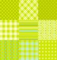 set of 9 simple seamless textures vector image vector image