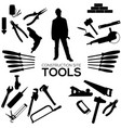set of construction tools vector image vector image