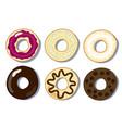 set of donuts flat donuts vector image