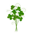 shamrock or clover emblem ireland and st vector image vector image