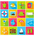 summer travel colorful icons vector image vector image