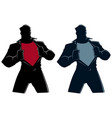 superhero under cover casual silhouette vector image vector image
