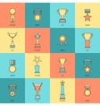 Trophy icons set flat line vector image vector image