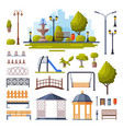 urban infrastructure design elements collection vector image vector image
