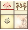 Vintage greeting cards set vector image vector image