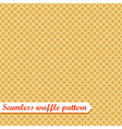 Waffles seamless pattern Sweet vector image