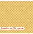 Waffles seamless pattern Sweet vector image vector image