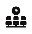 waiting room icon vector image vector image