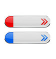 White oval buttons with colored arrows menu