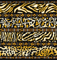 wild animal skins with african tribal motifs vector image
