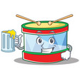 with juice toy drum character cartoon vector image vector image