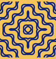 yellow and blue seamless pattern with concentric vector image