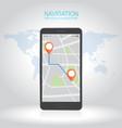 concept of responsive navigation application vector image