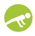 sport man silhouette active design vector image
