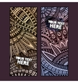 Abstract ethnic vintage pattern cards vector image vector image