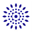 abstract flower blue and white vector image vector image