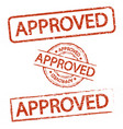 approved and rejected stamp vector image vector image