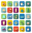Beach color icons with long shadow vector image vector image