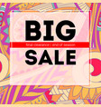 big sale banner get up to discount sales poster vector image vector image