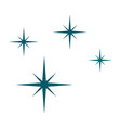 blue stars icon flat style vector image vector image