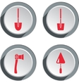 Building tools icon set Axe trowel shovel Work vector image vector image