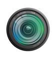 camera lens isolated on white background vector image