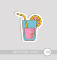 cocktail icon summer vacation vector image