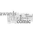 comic book awards vector image vector image