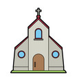 cristian or catholic church chapel icon image vector image