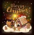 Cristmas Background with gingerbread houses vector image
