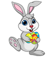 Cute rabbit with ester egg vector image vector image