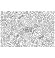 Doodle cartoon set coronavirus theme objects