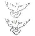 Dove Line Art2 vector image