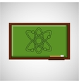 education concept blackboard physics vector image
