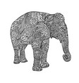 elephant in asian style mandala pattern for adult vector image vector image