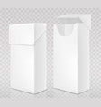 empty open and closed pack cigarettes vector image vector image