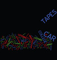 enroll in car college text background word cloud vector image vector image