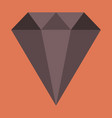 flat icon on stylish background diamond expensive vector image vector image