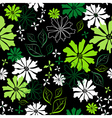 floral seamless dark pattern vector image vector image