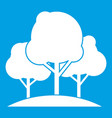 forest trees icon white vector image vector image