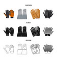 glove and winter icon vector image