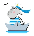 Goat sailor in ship 04 vector image