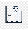 graph bar concept linear icon isolated on vector image