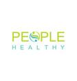 green people heakthy logo vector image