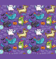 halloween holiday surface pattern with cute vector image vector image