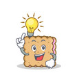 have an idea biscuit character cartoon style vector image vector image