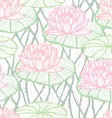 Ink hand drawn lotus pattern vector image vector image