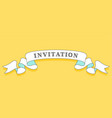 invitation vintage trendy ribbon vector image vector image