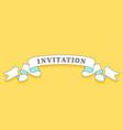 Invitation vintage trendy ribbon