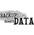 local vs remote data backup the pros and cons vector image vector image